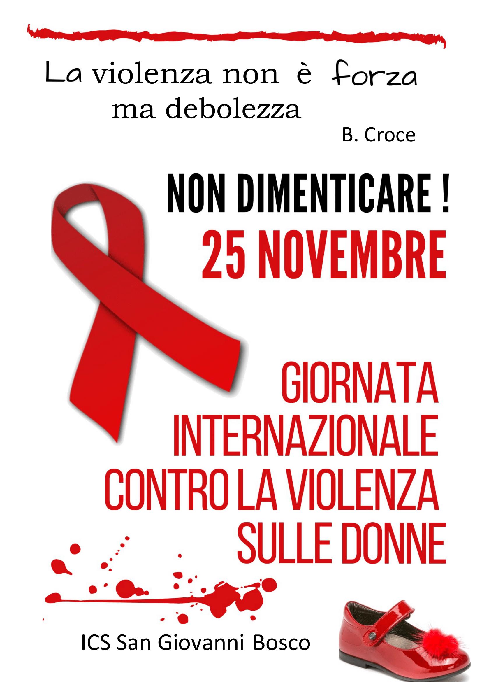 Giornata Internazionale Contro Violenza Donne